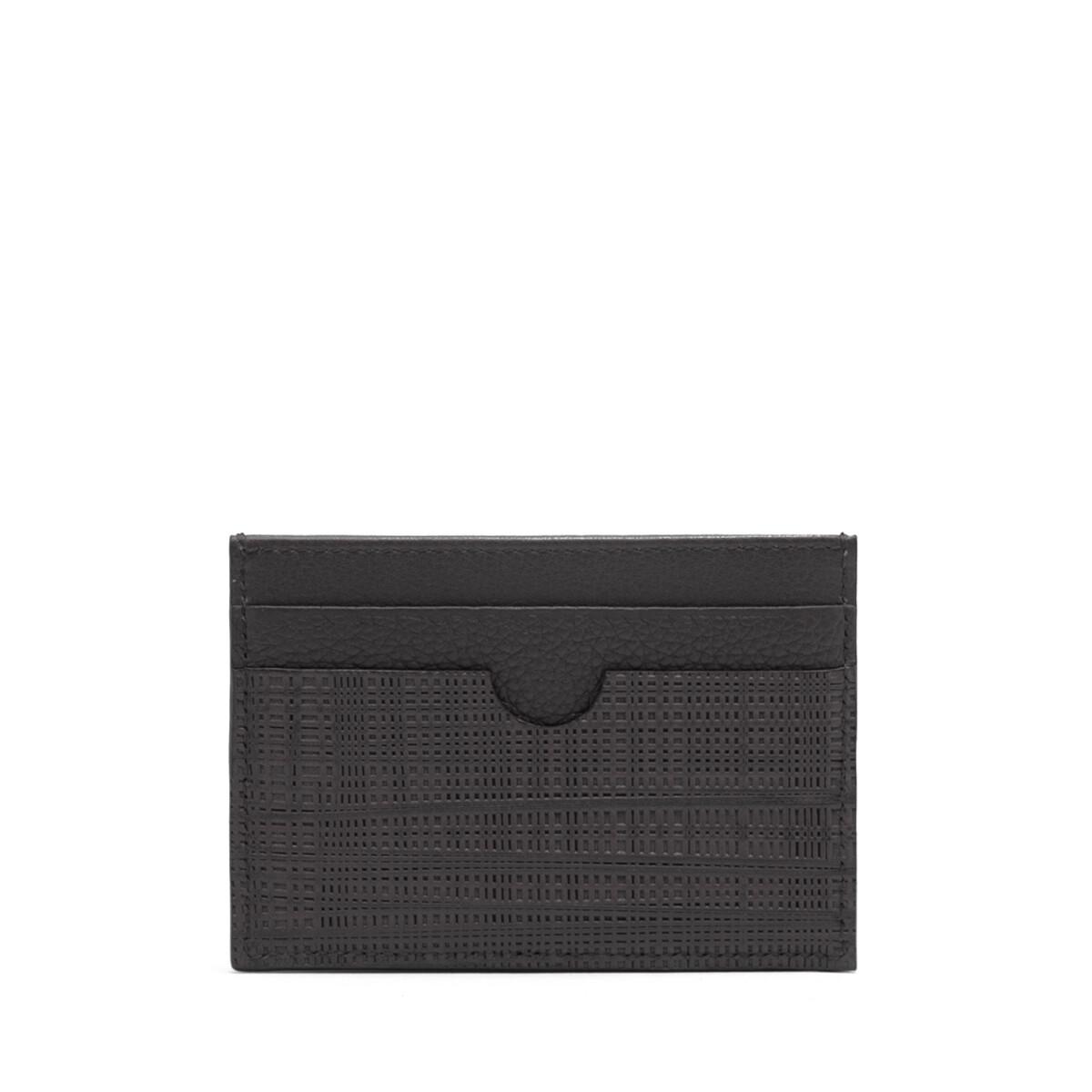 LOEWE Linen Plain Cardholder Black front