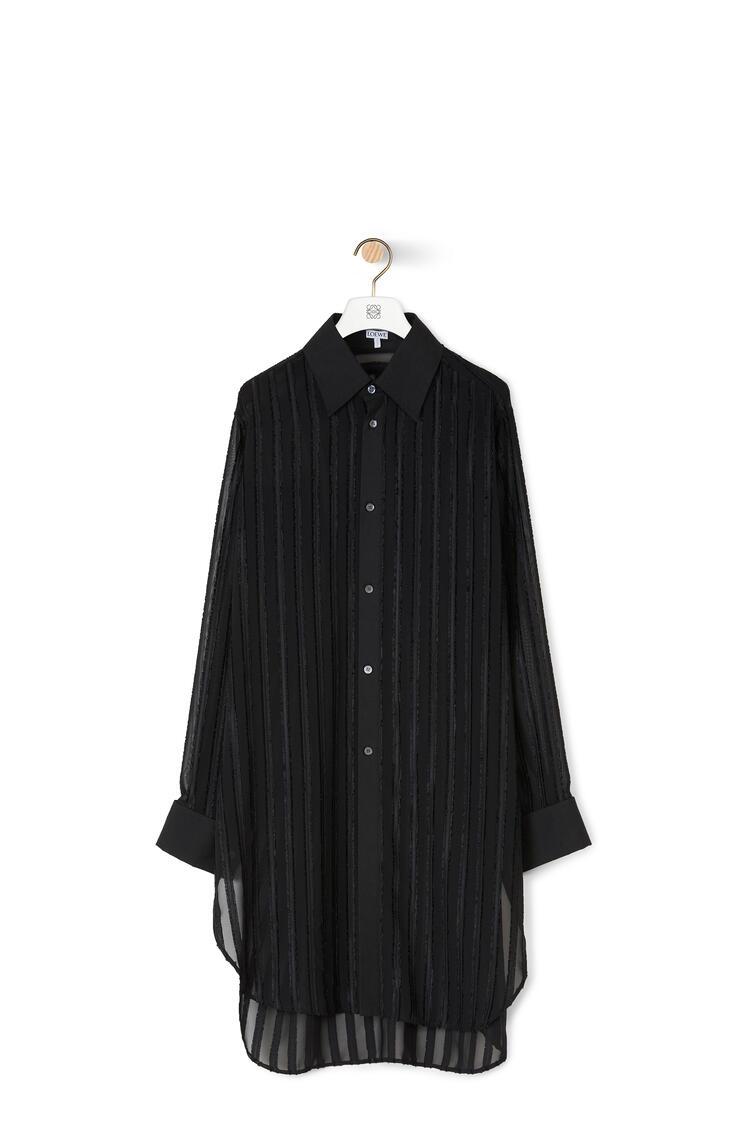 LOEWE フィル クーペ オーバーサイズ シャツ (ポリエステル) ブラック pdp_rd