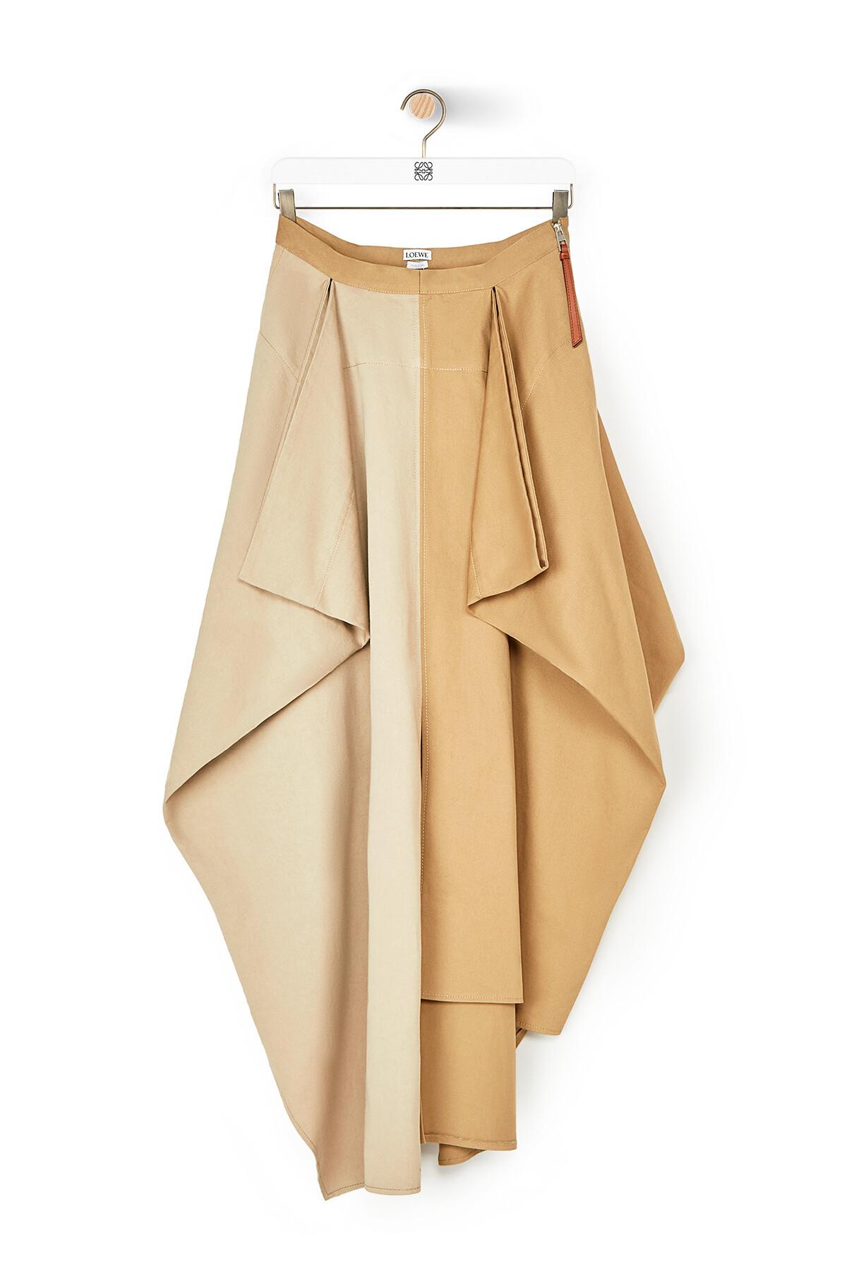 LOEWE Panel Skirt Beige/Camel front