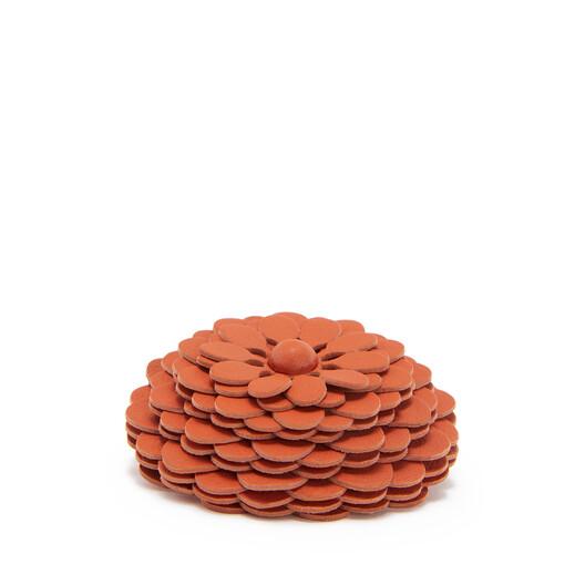 LOEWE Stud Flower Coral front