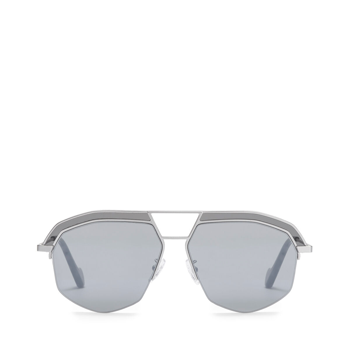 LOEWE Geometrical Sunglasses Mate Rhodium/Grey all