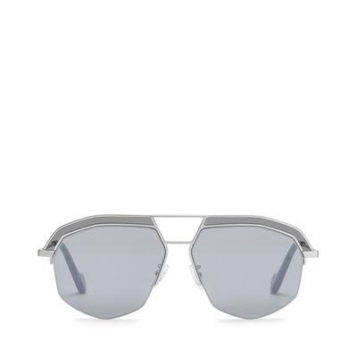 LOEWE Elio Sunglasses Mate Rhodium/Grey front