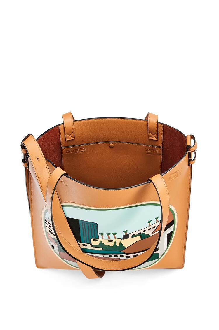 LOEWE L.A. Series Vertical Tote bag in classic calfskin Amber/Multicolor pdp_rd