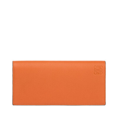 LOEWE Long Horizontal Wallet Ginger/Smoke Grey front