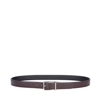LOEWE Formal Belt 3.2Cm Adj/Rev Brown/Black/Palladium front