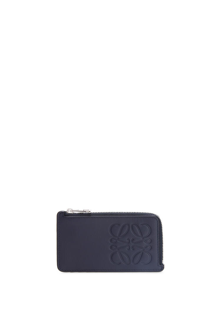 LOEWE Brand coin cardholder in smooth calfskin Midnight Blue pdp_rd