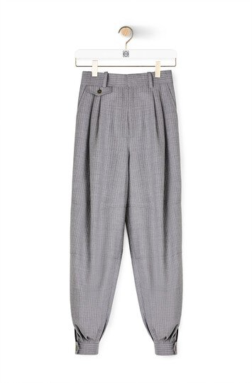 LOEWE Stripe Balloon Trousers Gris front
