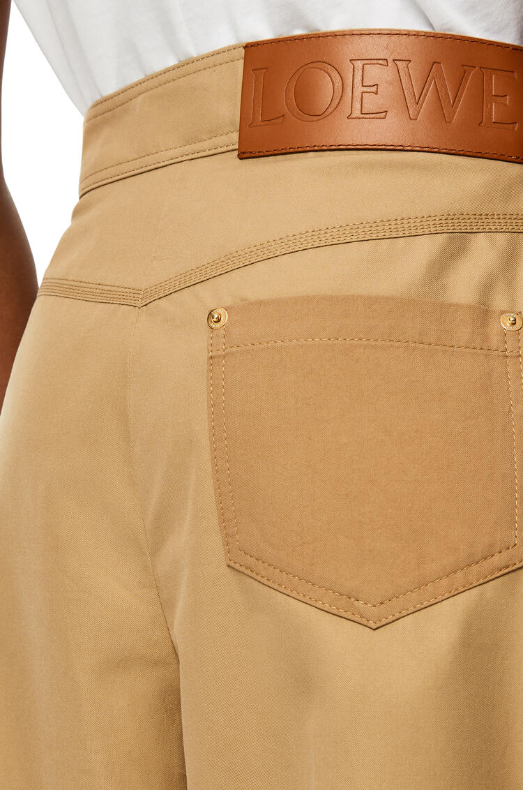 LOEWE Cropped balloon trousers in cotton Sweet Caramel pdp_rd