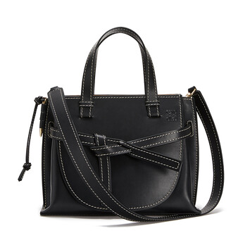 LOEWE Gate Top Handle Small 黑色 front