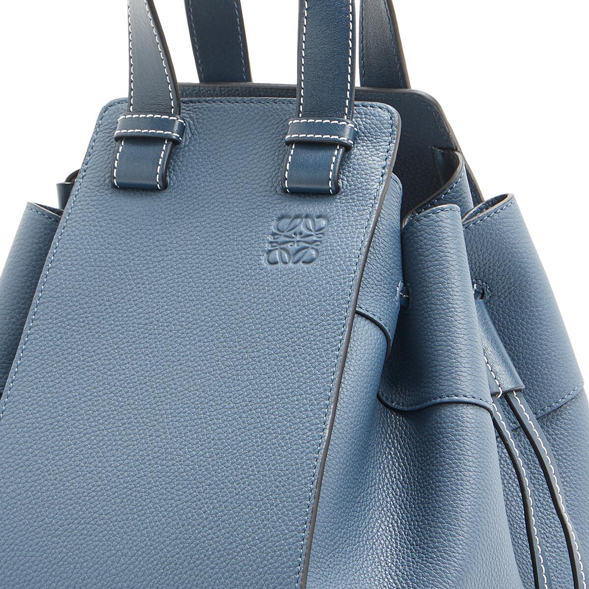 LOEWE Hammock Drawstring Medium Bag Steel Blue front