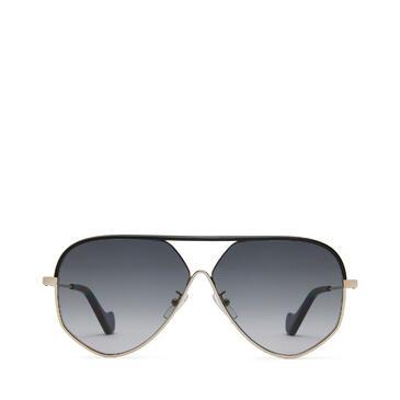 LOEWE Pilot leather sunglasses Black/Gold/Grey pdp_rd