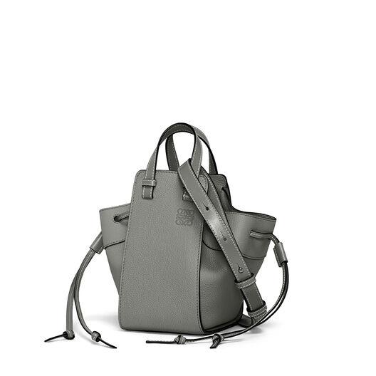 LOEWE Mini Hammock Dw Bag Gunmetal front