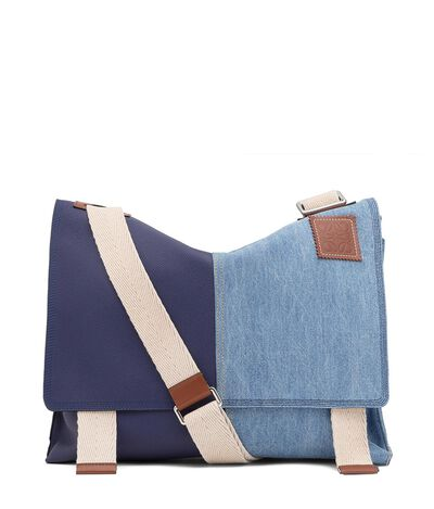 LOEWE Easy Messenger Bag Marine/Blue Denim front