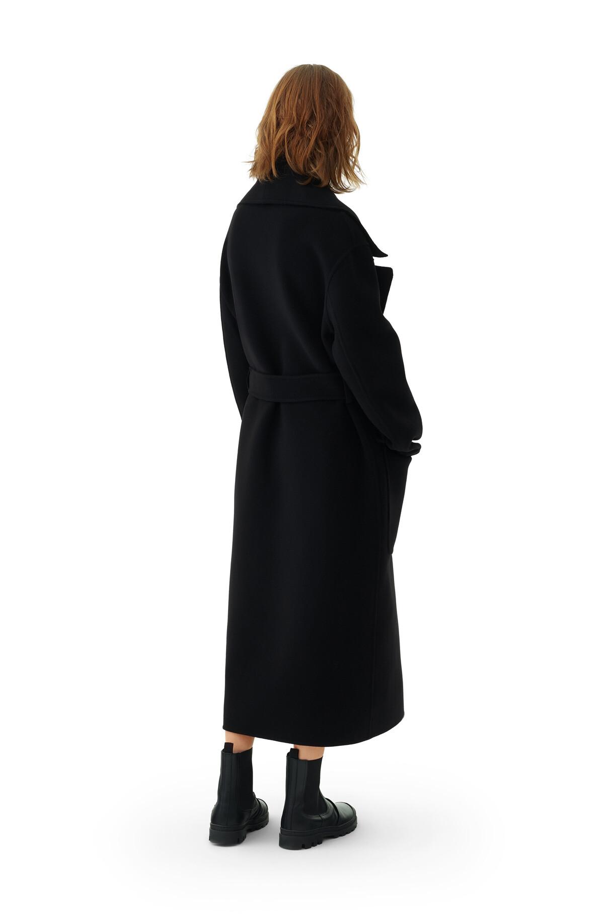 LOEWE Belted Coat Negro front