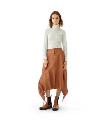 LOEWE Drawstring Skirt Bronceado front