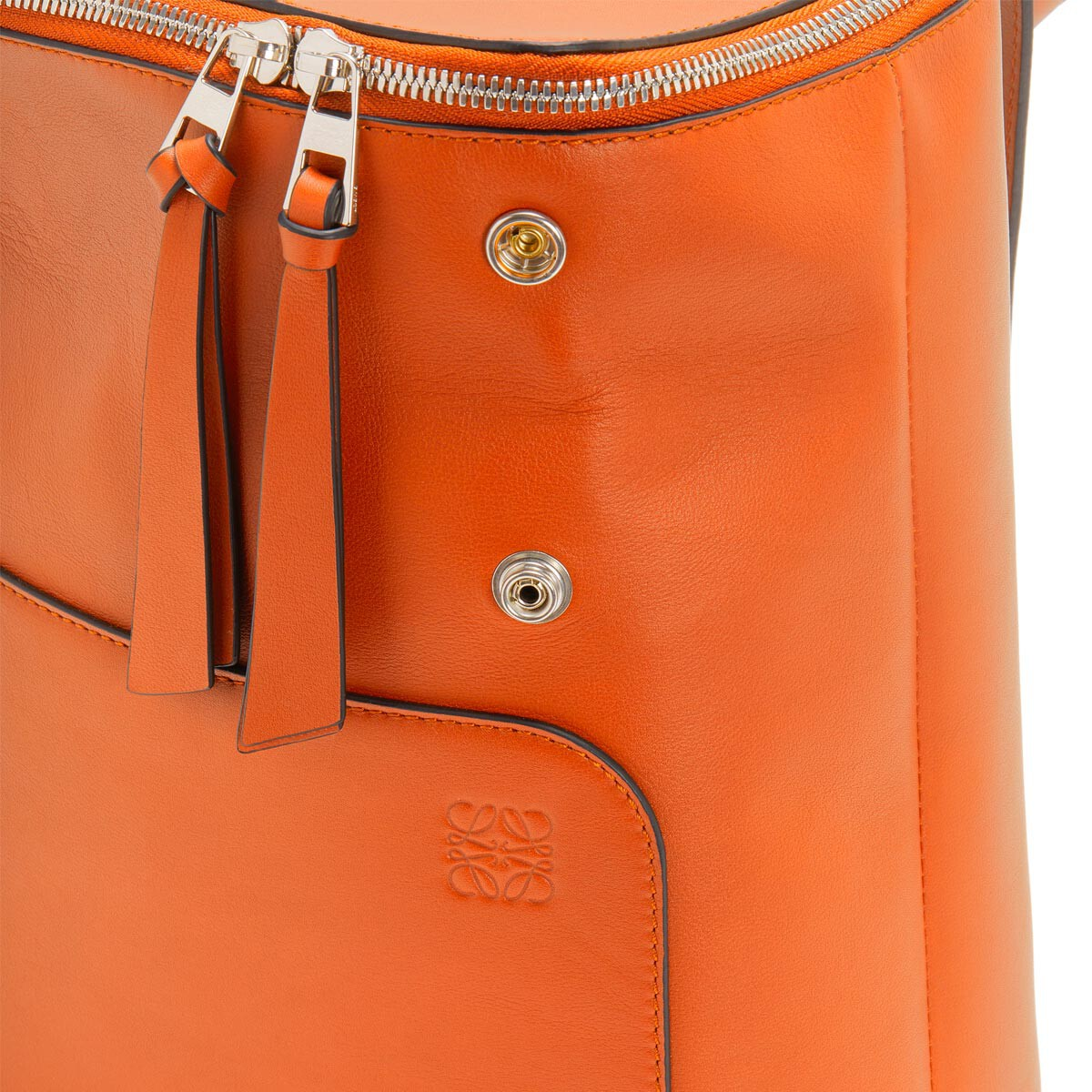 LOEWE ゴヤスモールバックパック Ginger Color front