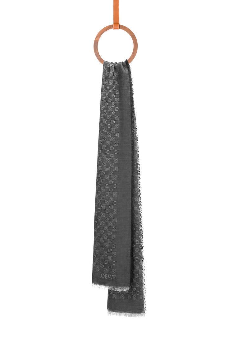 LOEWE LOEWE Anagram scarf in wool and silk Black pdp_rd
