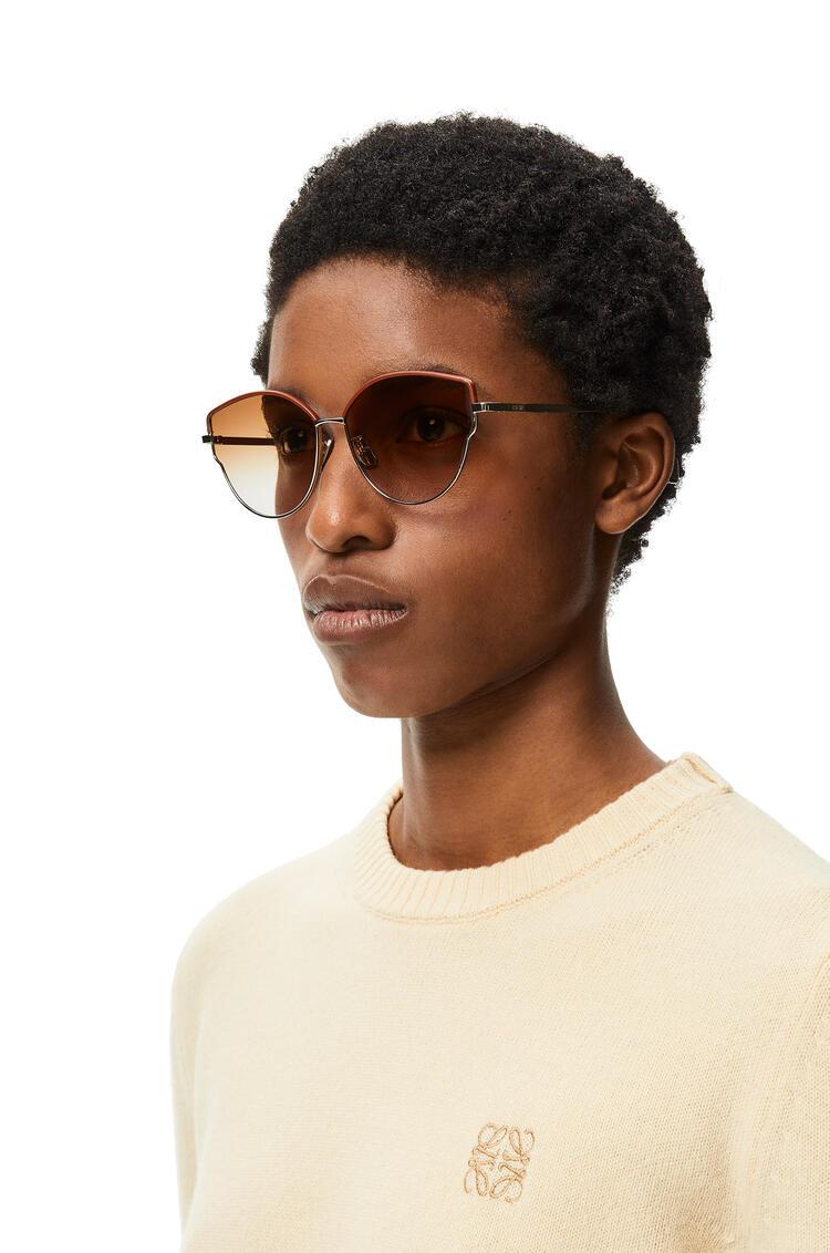 LOEWE Metal butterfly sunglasses Brown Degrade/Rose Gold pdp_rd
