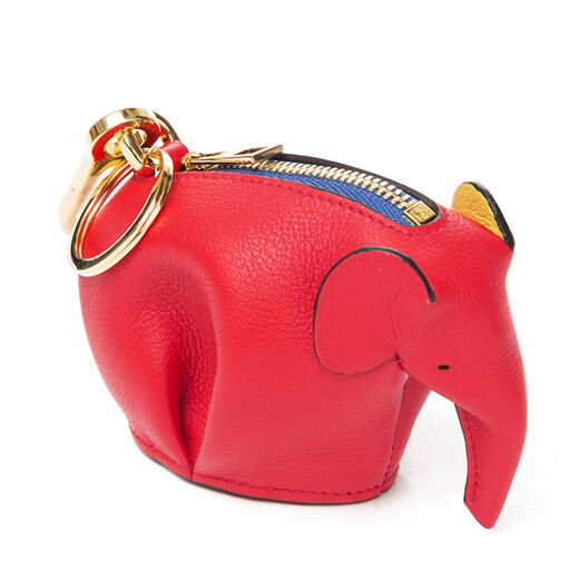 LOEWE Charm Elefante Rojo/Amarillo front