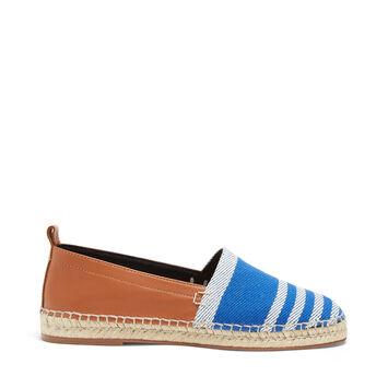 LOEWE Stripe Espadrille Blue/Tan front