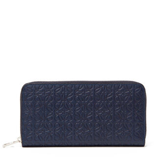 LOEWE Zip Around Wallet 海军蓝 front