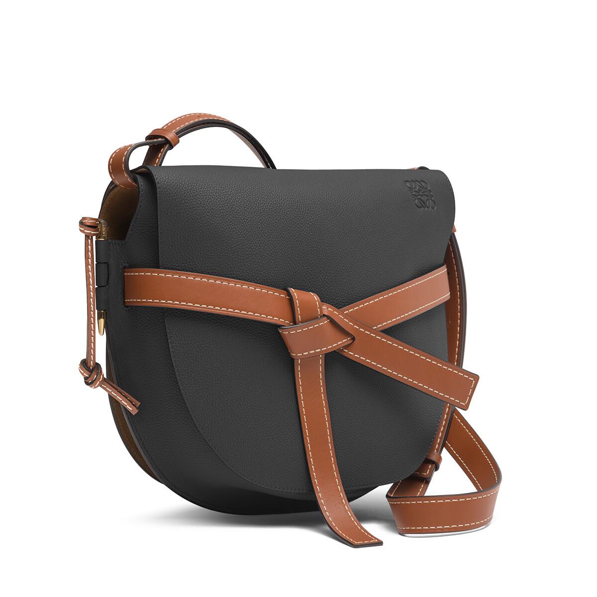 LOEWE Gate Bag Black/Pecan front
