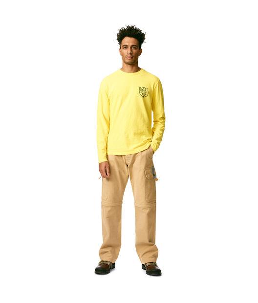 LOEWE Long Sleeve T-Shirt Loewe Eye Yellow front