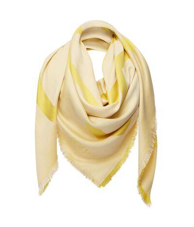 LOEWE 140X140 Shawl Anagram White/Yellow front