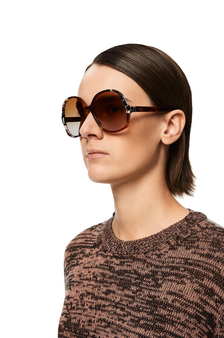 LOEWE Gafas de sol ovaladas Havana Claro Patchwork pdp_rd