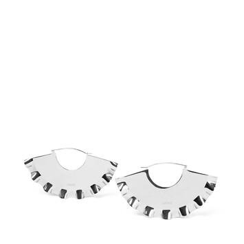 LOEWE Frills Earrings 金属灰 front
