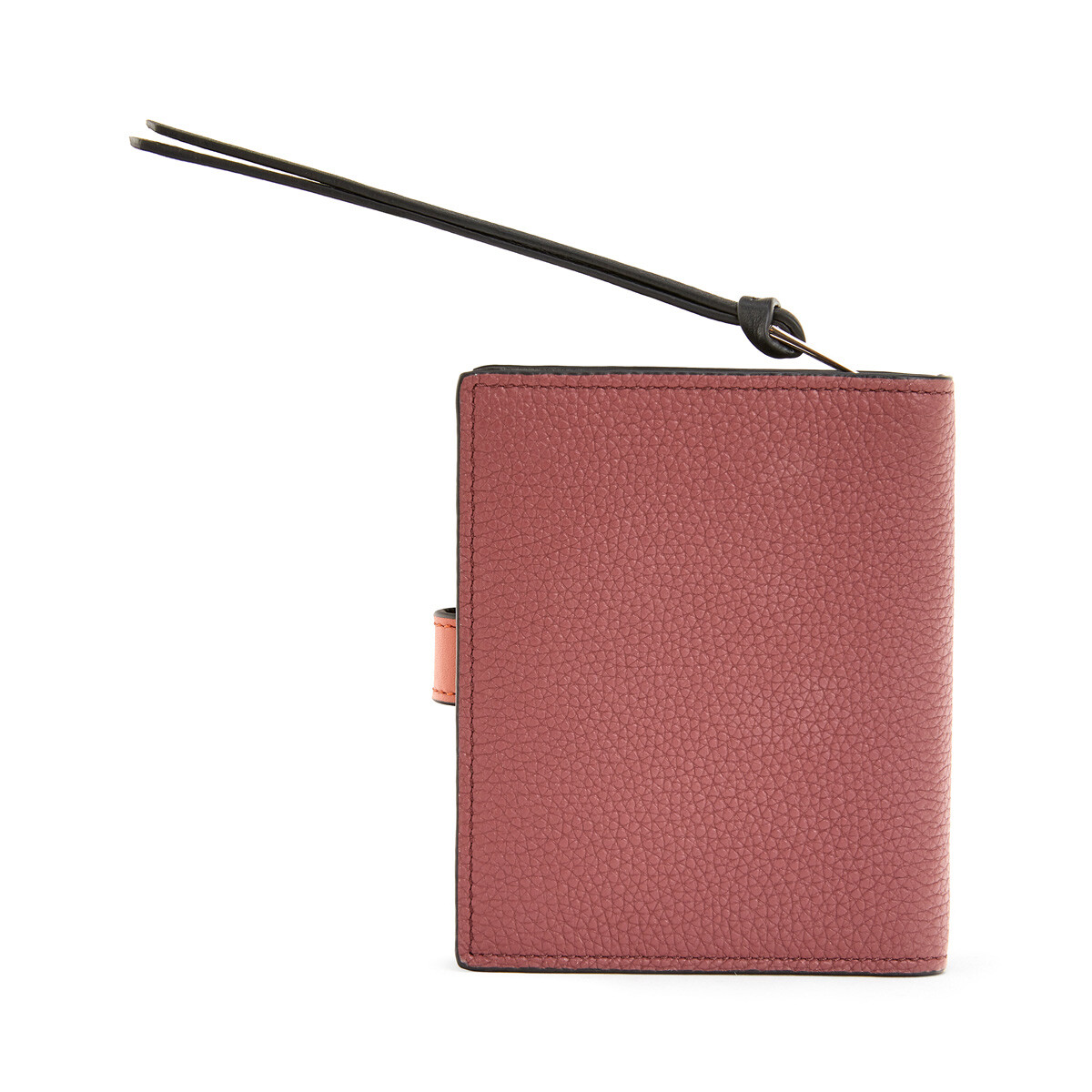LOEWE Compact Zip Wallet Wine/Burnt Orange  front