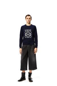 LOEWE Cropped flare jeans in denim Black pdp_rd