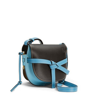 LOEWE Gate Small Bag black/light blue front