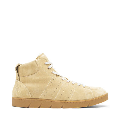 LOEWE High Top Sneaker Shearling Gold front