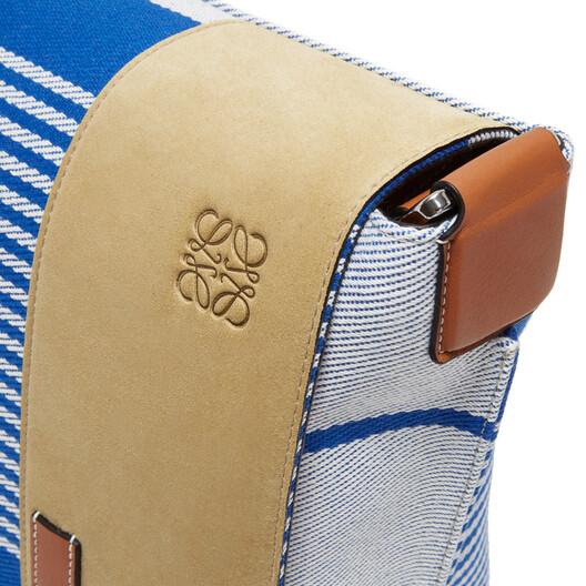 LOEWE Milit Messenger Stripes S Bag Pacific Blue/Multicolor front
