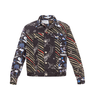 LOEWE Denim Jacket Paula Multicolor front