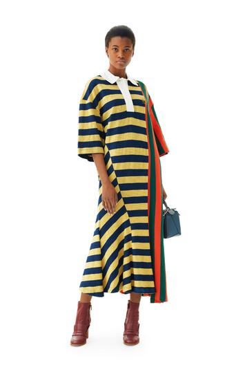 LOEWE Stripe Poloneck Dress マルチカラー front