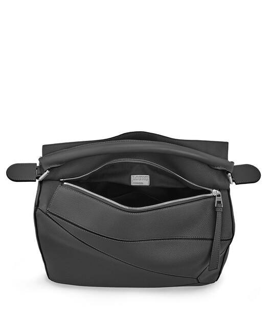 LOEWE Puzzle Large Bag Black front