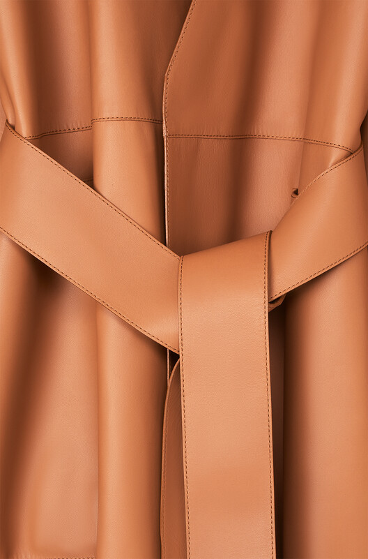 LOEWE Long Coat Bronceado front