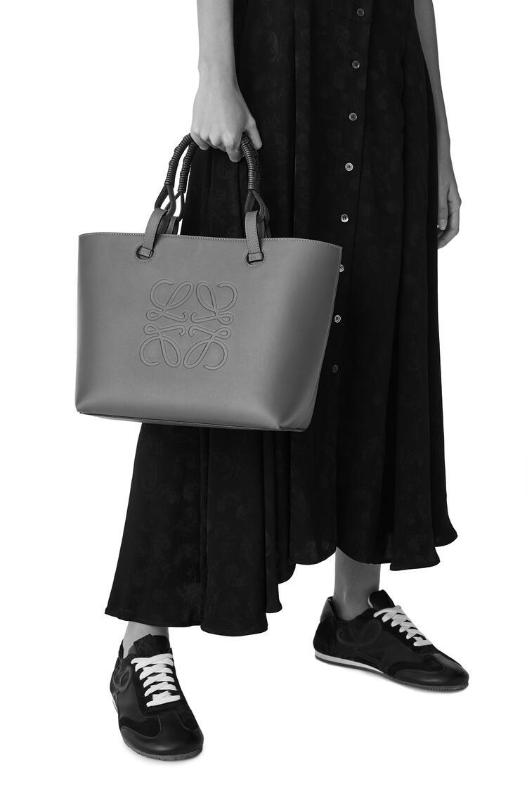 LOEWE Small Anagram tote bag in grained calfskin Black pdp_rd