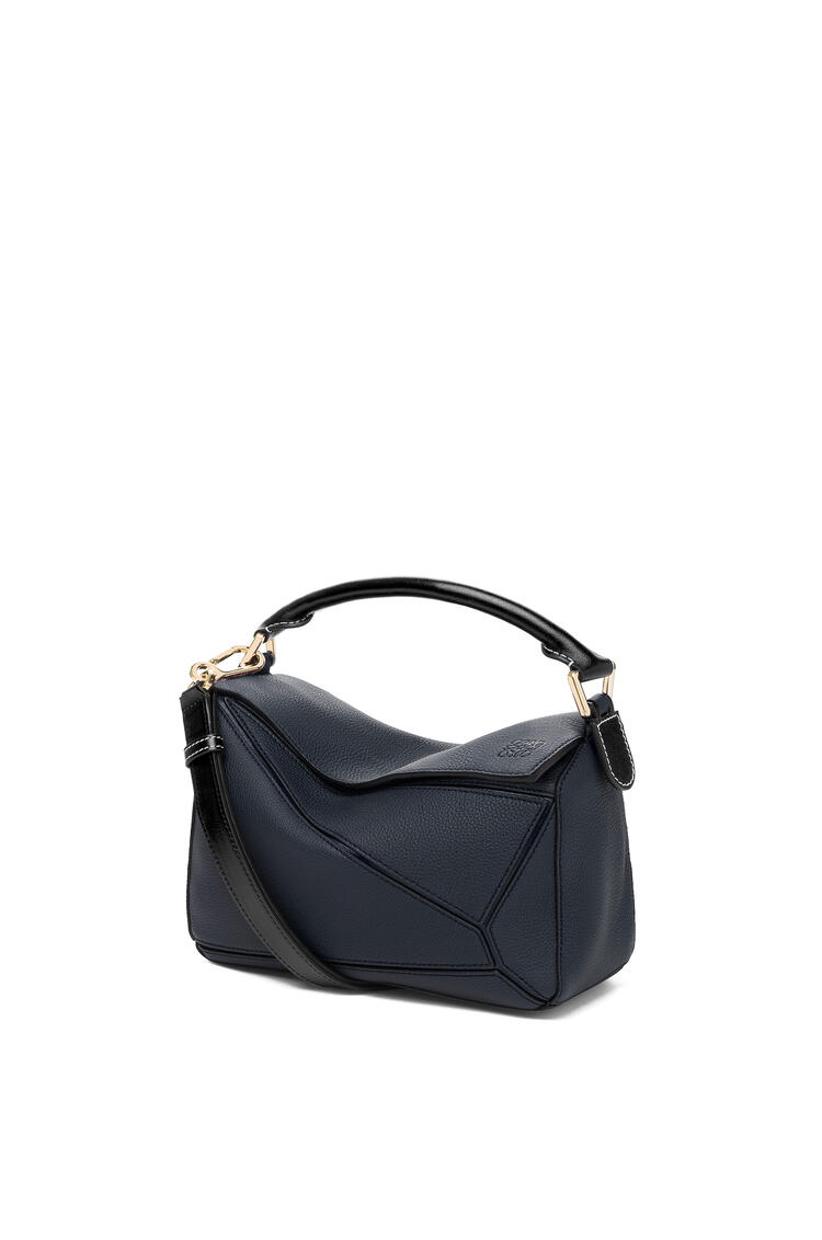 LOEWE Small Puzzle Bag In Soft Grained Calfskin Midnight Blue/Black pdp_rd