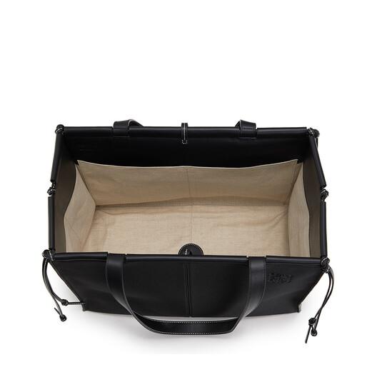 LOEWE Cushion Tote Black front