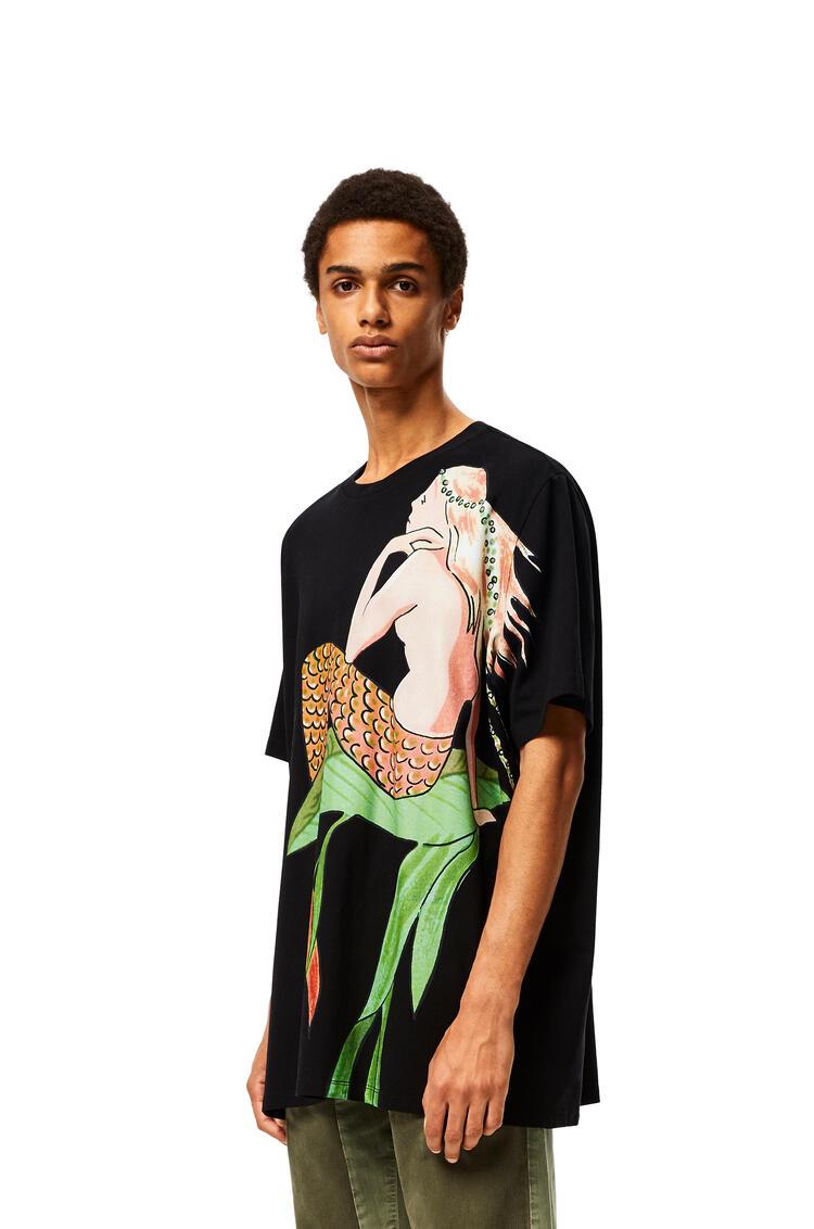 LOEWE オーバーサイズ Tシャツ (マーメイド コットン) ブラック pdp_rd