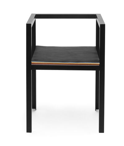LOEWE Set Chair W/ Layers Of Leather Black/Multicolor front