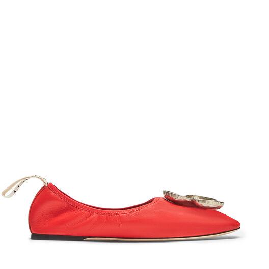 LOEWE Shamrock Ballerina Red front