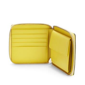 LOEWE Billetero C/C Cuadrado Puzzle Amarillo/Rosa Polvo front