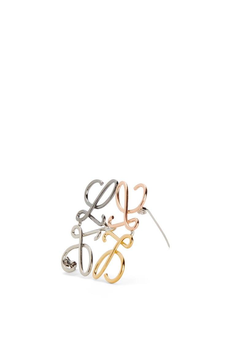 LOEWE Anagram brooch in metal Palladium/Multicolor pdp_rd