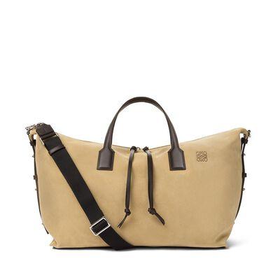 LOEWE Weekender With Strap Bag Gold/Brown front