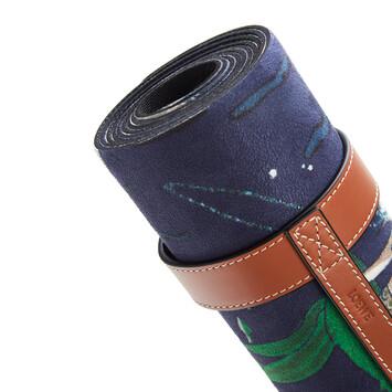 LOEWE Yoga Mat In Mermaid Microfibre And Calfskin Marine front