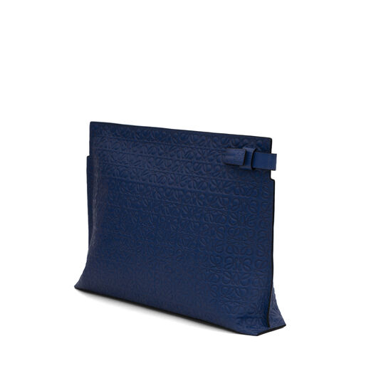 LOEWE T Pouch Navy Blue front